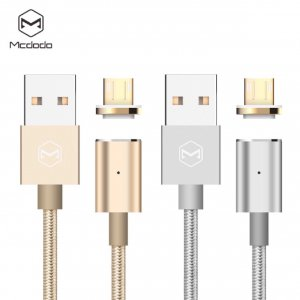 1.2meter MCDODO magnetic microUSB/Lightning charge and sync cable for Android or Apple iPhone iPad