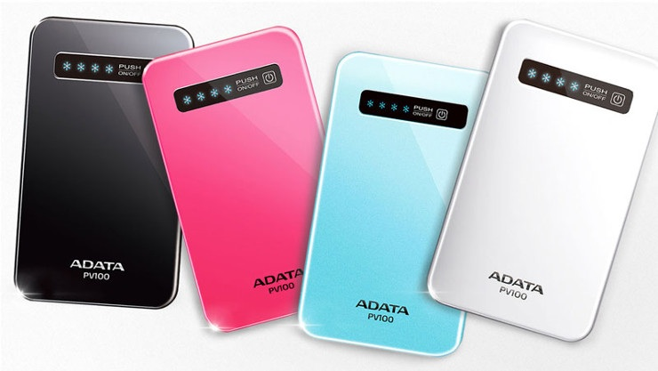 4200mAh Li-Polymer ULTRA-SLIM Power Bank ADATA PV100